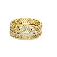 Joyas Exclusive Gold And American Diamond Bangle Set For Women_8B930160_2.4