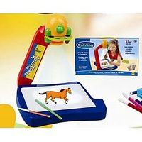 Educational Projector Painting Board Toy Game LED Light For Kids Baby Children