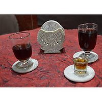 Artist Haat Hand Crafted Natural Soapstone Coasters And Holder