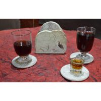 Artist Haat Hand Crafted Natural Soapstone Elephant Shaped Coasters