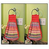 JBG Home Store Set Of 2 Ring Towels ( Hanger Towels) - Assorted