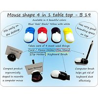 Mouse Shape 4 In 1 Table Top (with Pen Holder, Memo Holder, Paper Clip Holder