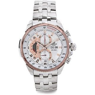 CASIO EDIFICE EF558D-7AV WHITE DIAL SPORTS CHRONOGRAPH MENS WRIST WATCH - 73061142