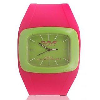 Wave London Drift Colour Burst Pink & Green Watch (Wl-Cb-Pkg)