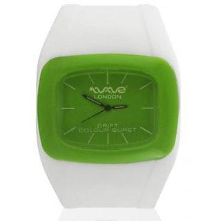 Wave London Drift Colour Burst White & Green Watch (Wl-Cb-Wg)