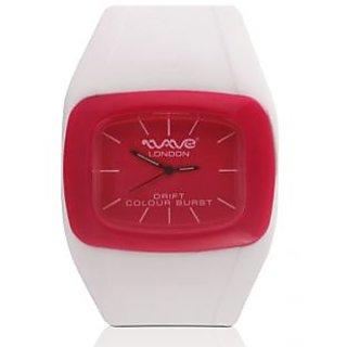 Wave London Drift Colour Burst White & Pink Watch (Wl-Cb-Wpk)