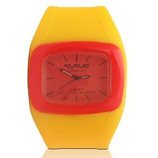Wave London Drift Colour Burst Yellow & Red Watch (Wl-Cb-Yr)