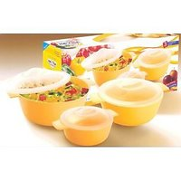 Nayasa Microwave Microfresh Cooking Containers 3 Pcs Gift Set