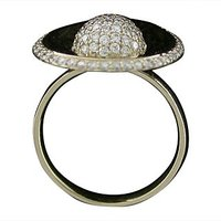 A Brilliant Pear Shape Round Cut Diamod Ring In 18 Kt White Gold