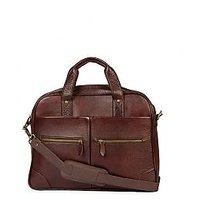 Stamp Leather Elegant Leather Unisex Laptop Bag ZP12117BR