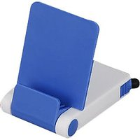 Mobile Stand With Detachable Stylus And Cleaner B34 Blue (Buy 1 Get 1 Free)