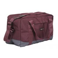 Duffle Bag - Travel Bag - Wine & Grey Color Bags - By Bags R Us