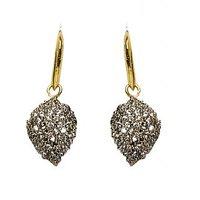 Joyas Designer American Diamond Leaf Drop Earring Set_13E12040