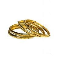 Joyas Golden Bangle Set For Women_1B1324885_2.4