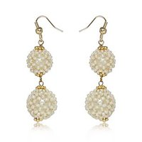 Pearl Dangler Earring By Utsokt 1ON1E357