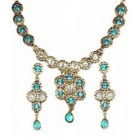 14Fashions Incredible Design Blue & White Necklace Set - 1100510