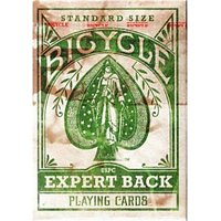 Bicycle Distress Expert Back (GREEN) Playing Cards Poker Distressed Limited Deck