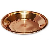 Pure Traditional Copper Thali Use For Temple Pooja 6.25 Inch Big