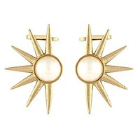 The Jewelbox Pearl Sun Gold Plated Ear Cuff Pair Trendy Earring