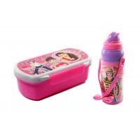 SKI Hide And Seek Slim Lunch Box Wth Water Bottle - Pink