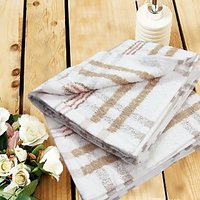 Yarn Dyed Stripes Hand Towel Set Of Two - 73572968