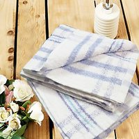 Yarn Dyed Stripes Hand Towel Set Of Two - 73578262