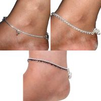 Beadworks Fashionable And Trendy Anklet Set Of 3 Pair