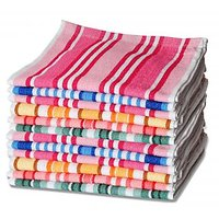 JBG Home Store Stripes Design 100 % Cotton Hand Towels ( Set Of 12)