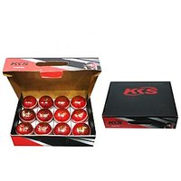 Cricket Leather Ball- Crown - 12 Pcs Box - Red