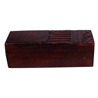 Onlineshoppee Wooden Antique Brown Jewellery Box With Handicraft Design