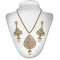 Panini Diamond And Pearl Necklace Set For Women_DE_1