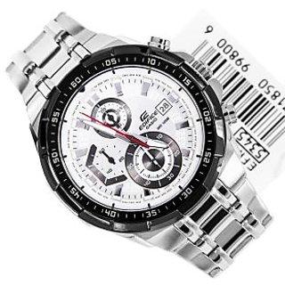 Casio Edifice Stopwatch Chronograph White Dial Men's Watch - EFR-539D-7AVUDF (EX