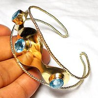 Fashion Design Gold Plated Bangle With Gemstone.ABSBY998A