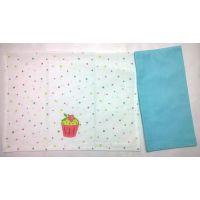 Barkat Cupkcake Polka Print Set Of 2 Kitchen Towels, 1 Pc Printed & 1 Pc Plain