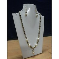 White Pearl Jewelry Set For Women - 73761632