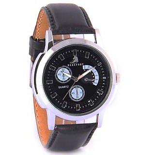 Beaufort Black Dial Men's Watch