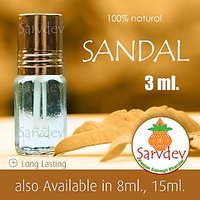 3ml Sandal Wood 100% Pure Itra Chandan Attar For Long Lasting Fragrance Roll On