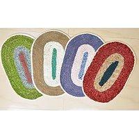 Sai Arpan's Combo Of 4 Beautiful Oval Door Mat