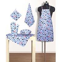 Buy Kitchen LInen (Set Of 6 Pcs) Mix Dotted Colour