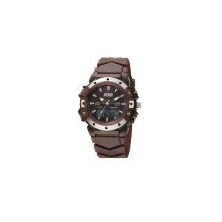Skmei Imported Trendy Casual Analog & Digital PU Quartz Mens Watch - NWA05S038C0