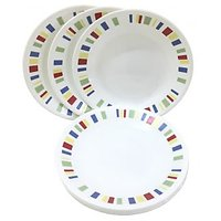 Corelle Dinner Plates - Memphis Quarter Dinner Plates - Set Of 4