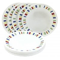 Corelle Dinner Plates - Memphis Quarter Dinner Plates - Set Of 6