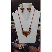 Beautiful Terracotta Necklace Set Yellow