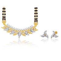 Peora 18 Karat Gold Plated Mangalsutra Earrings Set (Design 6)