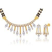 Peora 18 Karat Gold Plated Mangalsutra Earrings Set (Design 11)