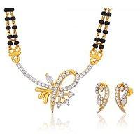 Peora 18 Karat Gold Plated Mangalsutra Earrings Set (Design 21)