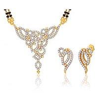 Peora 18 Karat Gold Plated Mangalsutra Earrings Set (Design 2)