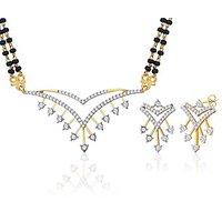 Peora 18 Karat Gold Plated Mangalsutra Earrings Set (Design 19)