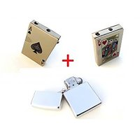 L Combo Of Ekka Badshaah Playing Card Lighter And Earth Zippo Refillable Lighter