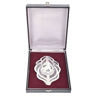 Silver Plated Silver Color Leaf Shape Gift Item